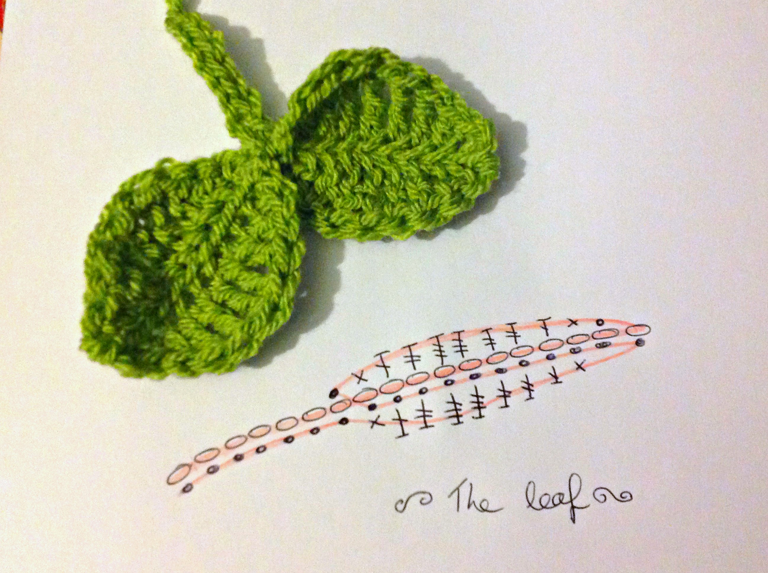 Crocheting Leaves : How to crochet leaves the twisted yarn