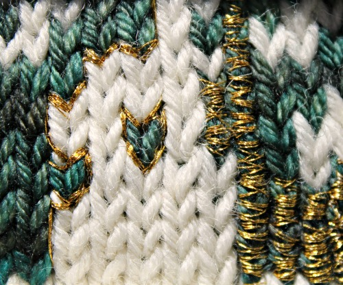 embroidered knitting