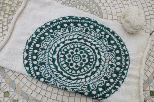 knitted mandala picture