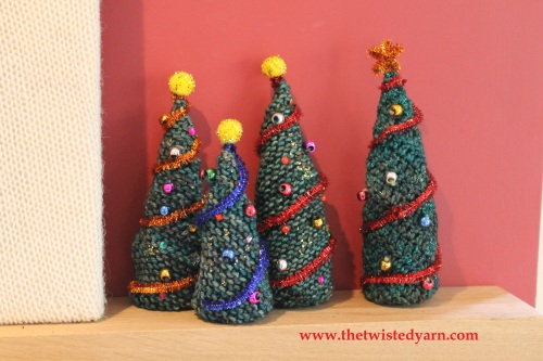 Knitted And Crochet Christmas Trees