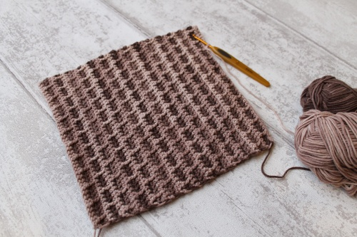 crochet brick stitch for house