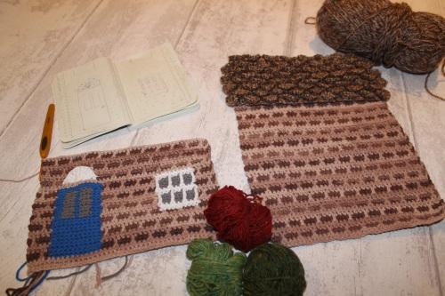 crochet house bag