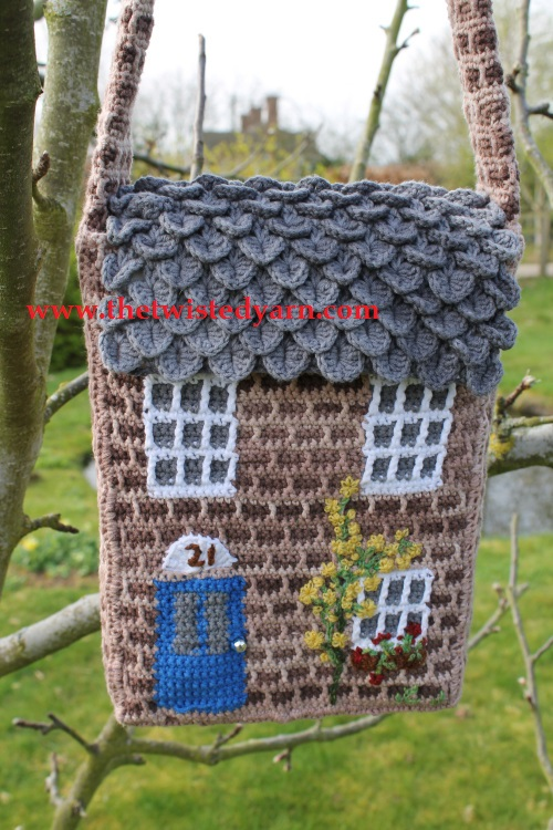 crochet house bag