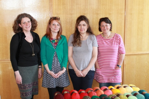 Phil (TheTwistedYarn), Sarah Neal (editor, Let's Knit), Annabelle Hill (sales director at Stylecraft), Lucy (Attic24).