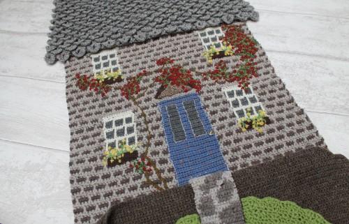 crochet house in progress